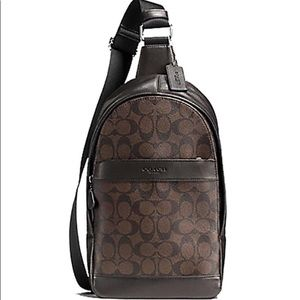 Coach sling backpack